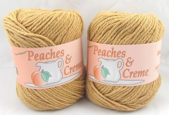 Camel peaches amp creme yarn 2 balls by carolscabin on etsy