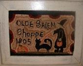 Olde Salem Shoppe Halloween  Punch Needle Pattern