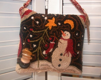 Primitive Punch Needle Pattern   And The Stocking Was Hung