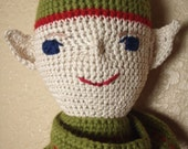 Kipper, old world vintage style, adult collectable crochet art doll
