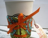 Colorful Amy Butler Lace Up Coffee Cuff