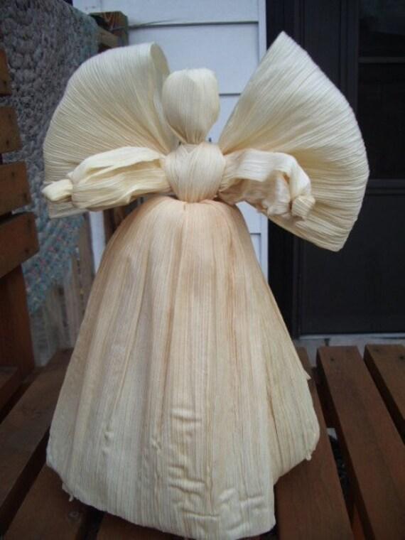 Corn Husk Angel Tree Topper Decoration