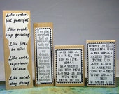 Inspirational Sayings Rubber Stamps Used