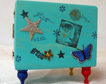 Altered Art Box- Dream, Faith, Wish and Hope
