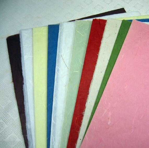 Mulberry Paper Assorted Colors Destash