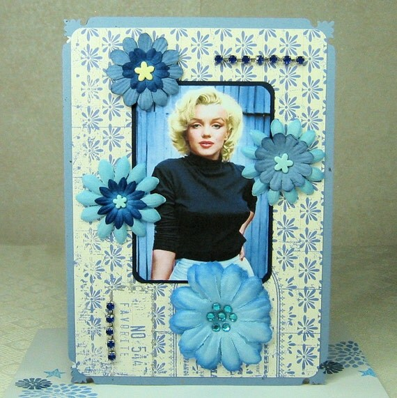 Marilyn Monroe Greeting Card Vintage Style