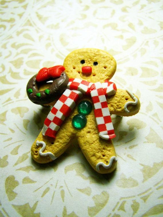 Ginger Bread Man Brooch