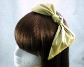 Gold Silk Hair Bow Aliceband