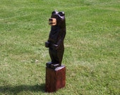 Chainsaw Carved Black Bear