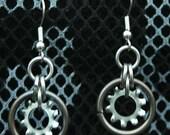 Steampunk Gear Earrings.