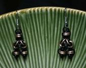 Steampunk Chainmaille Barrel Earrings