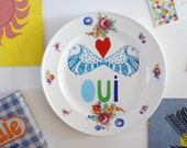 Oui plate made to order