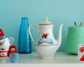Extra large lovebirds teapot