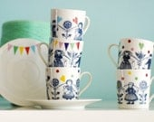 Folklore and fun cup & saucer made to order