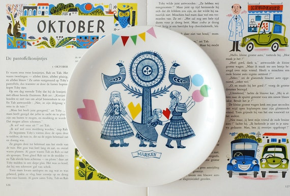 Folklore and fun plate 'Marken', ready to ship