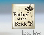 Tie Tack - FATHER of BRIDE - Weddings- Also available as Cuff Links