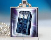 TARDIS- Scrabble Tile Pendant - Fun, Affordable Gift - perfect for Doctor Who fans