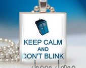 Doctor WHO - Keep Calm and Don't BLINK - Scrabble Tile Pendant - Fun, Affordable Gift - perfect for Doctor Who fans