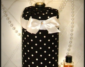 Jewelry Headband Hairbow holder Princess Black White polka dots