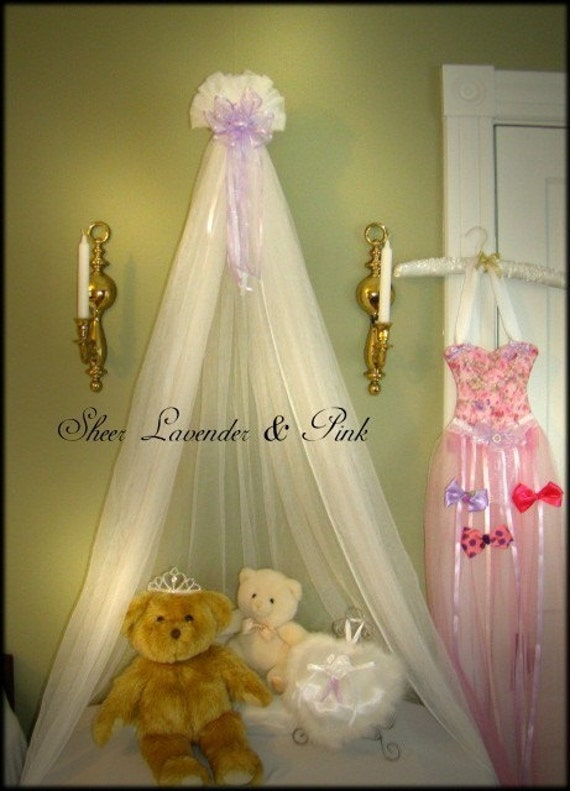 Boutique Fairy Princess Canopy Crib Bed Nursery Sheers Lavender White