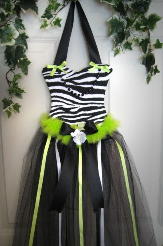 Boutique Chic Custom Animal Print Zebra Princess Hair Bow Holder Hairbow Gown Tutu Korker Clippie Barrette Photo Organizer