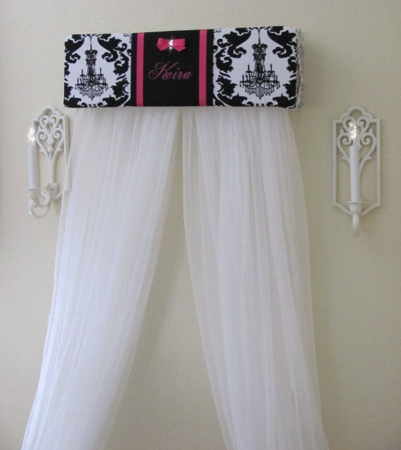Personalized bed crown canopy curtains sale by sozoeyboutique - Canopy bed curtains for sale ...