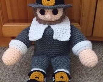 Crochet Pattern Thanksgiving Pilgrim TP Topper - PDF Instant Download