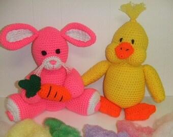 CROCHET VILLAGE - CV018 Easter Bunny and Chick - Amigurami - PDF Download