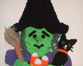 CROCHET PATTERN - CV042 Halloween Witch Door Hanging - PDF Download