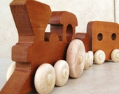 Deluxe Train in Mahogany Wood