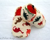 Roar Says The Dinosaurs Baby Shoes Booties Slippers