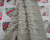 Aran Crib Quilt Pattern -- Moss and Basketweave Stitches