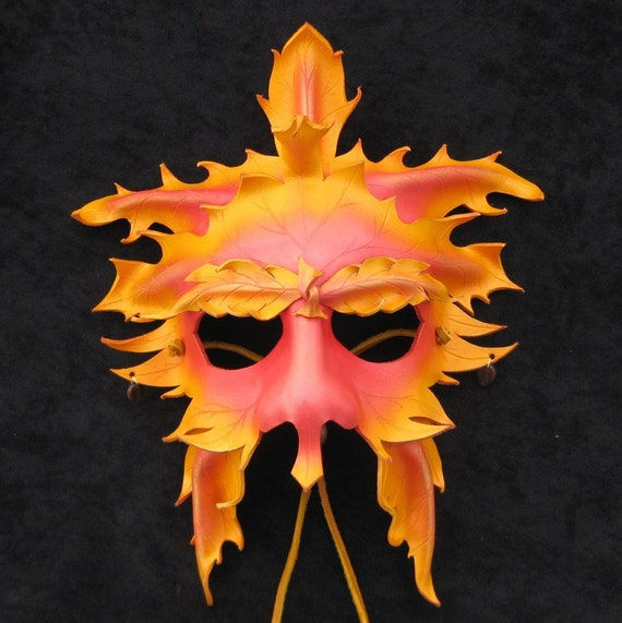 Green Man Mask (Autumn)