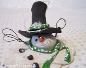 Melting Snowman Christmas Ornament