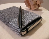 Avalanched - handknit Moleskine cover