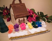 Gingerbread House with 96 Piece Felt Self Decorating, gingerbread, felt, toy, doll house, Christmas decoration,