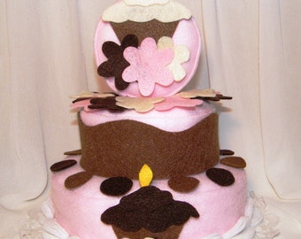 Cupcake Theme felt cake that your child can decorate