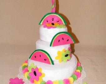 Juicy Watermelon felt cake theme