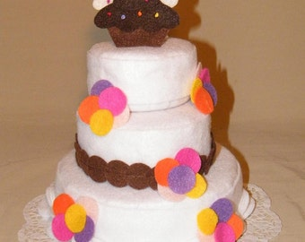 Sprinkle Cupcake Theme felt cake