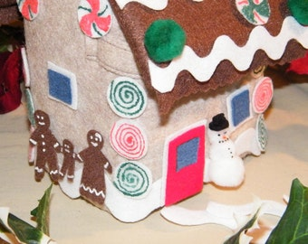 72  Piece Felt Self  Decorating GINGERBREAD HOUSE, Felt, Self  Decorating, Christmas decorations