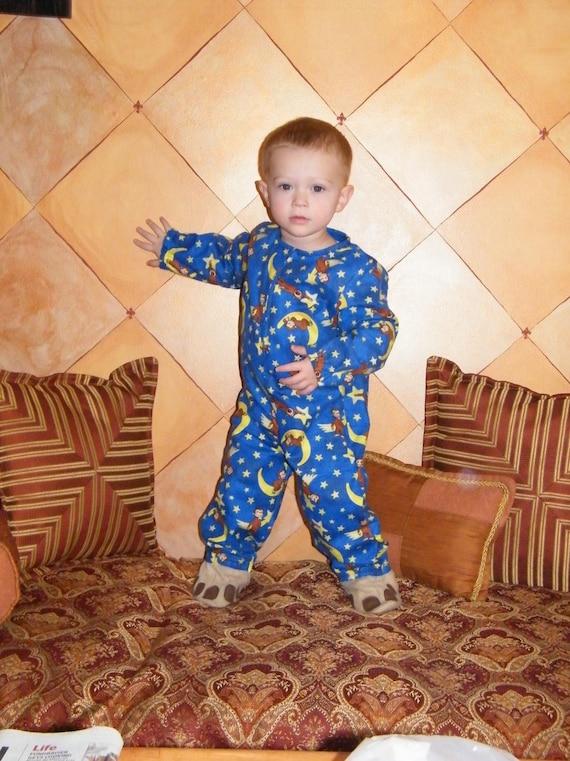 curious george footed pajamas 2t