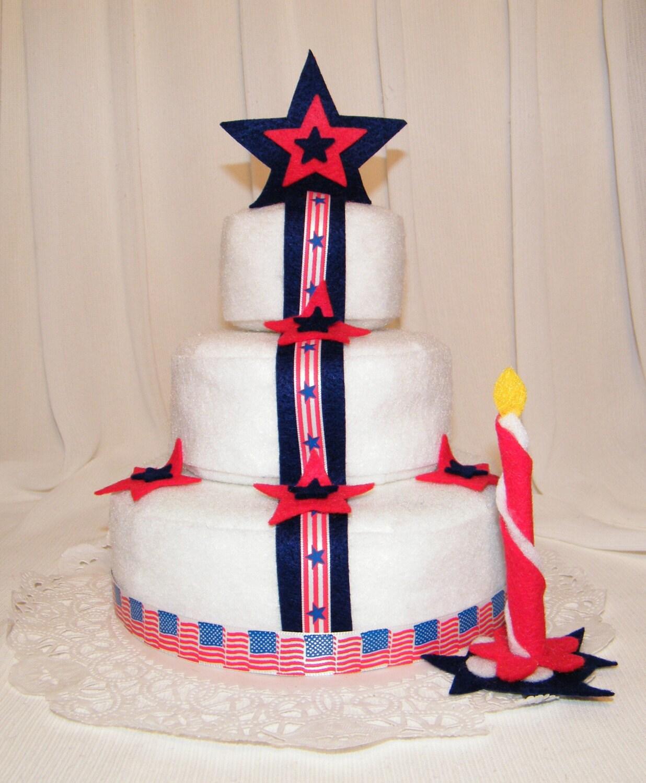 American flag and stars decorating felt cake 4th of july for American flag cake decoration