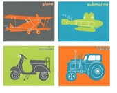 Any Way You Like to Travel- Set of 4 Prints