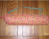 Yoga Mat Bag / Sunflower Yoga Mat Bag / Yoga Bag / Yoga Tote / Red Yoga Bag / Pilates Bag