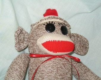 Sock MonkeyTraditional Hand Made Doll