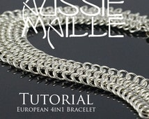 Chainmaille Tutorial - European 4in1 Bracelet