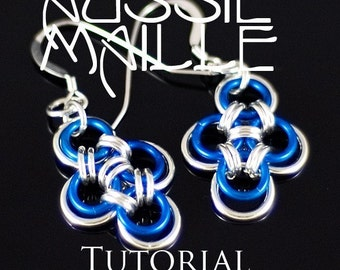 Chainmaille Tutorial Japanese Cross Earrings