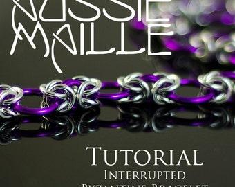 Chainmaille Tutorial - Interrupted Byzantine Bracelet