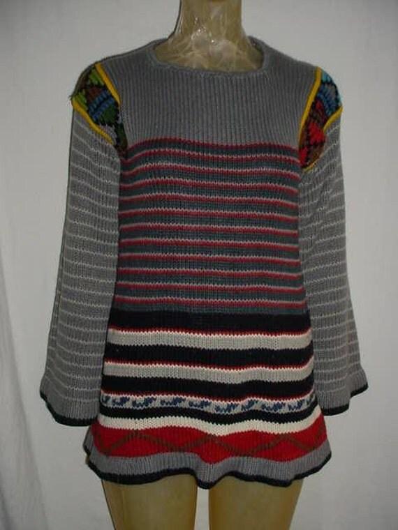 Knit Mod 60s Mini Tunic Sweater Dress Vicki Volts