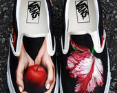 MADE TO ORDER (Any Size) Hand Painted Twilight Shoes